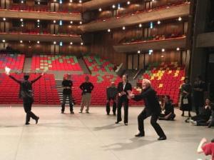 На репетиции с Токио балетом в Токио Бунка-Кайкан
